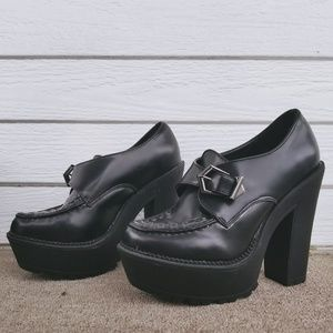 Forever 21 Edgy Chunky Heel